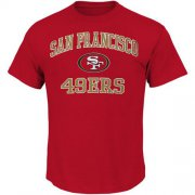 Wholesale Cheap San Francisco 49ers Majestic Big and Tall Heart & Soul III T-Shirt Scarlet