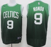 Wholesale Cheap Boston Celtics #9 Rajon Rondo Green/Black Resonate Fashion Jersey