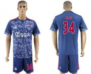 Wholesale Cheap Ajax #34 Nouri Away Soccer Club Jersey