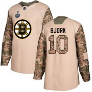 Wholesale Cheap Adidas Bruins #10 Anders Bjork Camo Authentic 2017 Veterans Day Stanley Cup Final Bound Stitched NHL Jersey