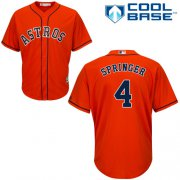 Wholesale Cheap Astros #4 George Springer Orange New Cool Base Stitched MLB Jersey