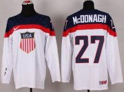 Wholesale Cheap 2014 Olympic Team USA #27 Ryan McDonagh White Stitched NHL Jersey