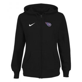 Wholesale Cheap Nike Tennessee Titans Ladies Tailgater Full Zip Hoodie Black