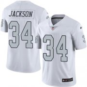 Wholesale Cheap Nike Raiders #34 Bo Jackson White Youth Stitched NFL Limited Rush Jersey