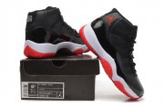 Wholesale Cheap Womens Air Jordan 11 GS Shoes Black/red-white