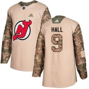 Wholesale Cheap Adidas Devils #9 Taylor Hall Camo Authentic 2017 Veterans Day Stitched Youth NHL Jersey