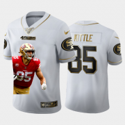 Cheap San Francisco 49ers #85 George Kittle Nike Team Hero 2 Vapor Limited NFL 100 Jersey White Golden