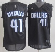 Wholesale Cheap Dallas Mavericks #41 Dirkules Black Fashion Jersey