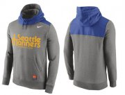 Wholesale Cheap Men's Seattle Mariners Nike Gray Cooperstown Collection Hybrid Pullover Hoodie
