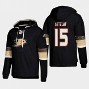 Wholesale Cheap Anaheim Ducks #15 Ryan Getzlaf Black adidas Lace-Up Pullover Hoodie