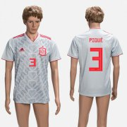 Wholesale Cheap Spain #3 Pique Grey Training Soccer Country Jersey