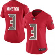 Wholesale Cheap Nike Buccaneers #3 Jameis Winston Red Women's Stitched NFL Limited Rush Jersey