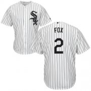 Wholesale Cheap White Sox #2 Nellie Fox White(Black Strip) Home Cool Base Stitched Youth MLB Jersey