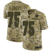 Wholesale Cheap Nike Dolphins #75 Ereck Flowers Camo Youth Stitched NFL Limited 2018 Salute To Service Jersey