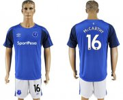 Wholesale Cheap Everton #16 Mccarthy Home Soccer Club Jersey
