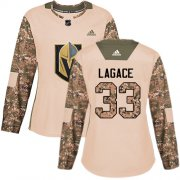 Wholesale Cheap Adidas Golden Knights #33 Maxime Lagace Camo Authentic 2017 Veterans Day Women's Stitched NHL Jersey