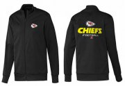 Wholesale NFL Kansas City Chiefs Victory Jacket Black_2