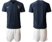 Wholesale Cheap France Blank Home Soccer Country Jersey