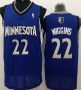 Wholesale Cheap Minnesota Timberwolves #22 Andrew Wiggins Blue Swingman Jersey