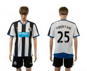 Wholesale Cheap Newcastle #25 Obertan Home Soccer Club Jersey