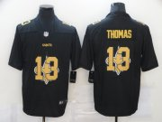 Wholesale Cheap Men's New Orleans Saints #13 Michael Thomas Black 2020 Shadow Logo Vapor Untouchable Stitched NFL Nike Limited Jersey