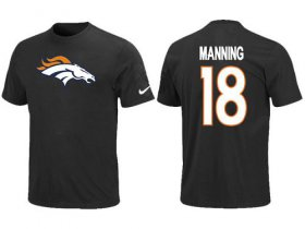 Wholesale Cheap Nike Denver Broncos #18 Peyton Manning Name & Number NFL T-Shirt Black