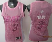 Wholesale Cheap Miami Heat #3 Dwyane Wade Pink Womens Jersey