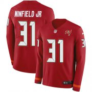 Wholesale Cheap Nike Buccaneers #31 Antoine Winfield Jr. Red Team Color Youth Stitched NFL Limited Therma Long Sleeve Jersey