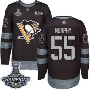 Wholesale Cheap Adidas Penguins #55 Larry Murphy Black 1917-2017 100th Anniversary Stanley Cup Finals Champions Stitched NHL Jersey