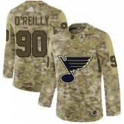 Wholesale Cheap Adidas Blues #90 Ryan O'Reilly Camo Authentic Stitched NHL Jersey