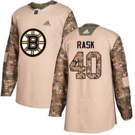 Wholesale Cheap Adidas Bruins #40 Tuukka Rask Camo Authentic 2017 Veterans Day Youth Stitched NHL Jersey