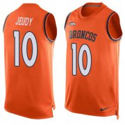 Wholesale Cheap Nike Broncos #10 Jerry Jeudy Orange Team Color Men's Stitched NFL Limited Tank Top Jersey