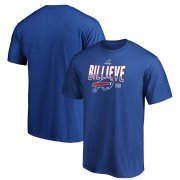 Wholesale Cheap Buffalo Bills 2019 NFL Playoffs Bound Hometown Checkdown T-Shirt Royal