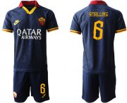 Wholesale Cheap Roma #6 Smalling Third Soccer Club Jersey
