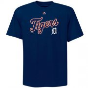 Wholesale Cheap Detroit Tigers Majestic Big & Tall Warning Track T-Shirt Navy