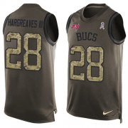 Wholesale Cheap Nike Buccaneers #28 Vernon Hargreaves III Green Men's Stitched NFL Limited Salute To Service Tank Top Jersey