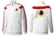 Wholesale Cheap NFL Washington Redskins Team Logo Jacket White_2