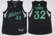 Wholesale Cheap Men's Minnesota Timberwolves #32 Karl-Anthony Towns adidas Black 2016 Christmas Day Stitched NBA Swingman Jersey