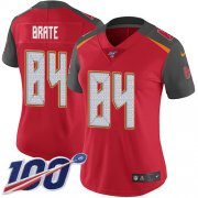Wholesale Cheap Nike Buccaneers #84 Cameron Brate Red Team Color Women's Stitched NFL 100th Season Vapor Untouchable Limited Jersey