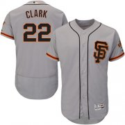 Wholesale Cheap Giants #22 Will Clark Grey Flexbase Authentic Collection Road 2 Stitched MLB Jersey