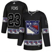 Wholesale Cheap Adidas Rangers #23 Adam Foxs Black Authentic Team Logo Fashion Stitched NHL Jersey