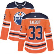 Wholesale Cheap Adidas Oilers #33 Cam Talbot Orange Home Authentic Women's Stitched NHL Jersey