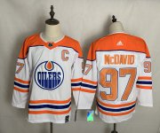 Wholesale Cheap Men's Edmonton Oilers #97 Connor McDavid White 2021 Retro Stitched NHL Jersey