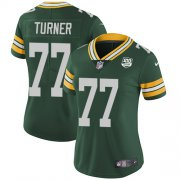 Wholesale Cheap Nike Packers #77 Billy Turner Green Team Color Women's 100th Season Stitched NFL Vapor Untouchable Limited Jersey