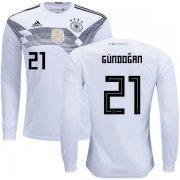 Wholesale Cheap Germany #21 Gundogan Home Long Sleeves Kid Soccer Country Jersey
