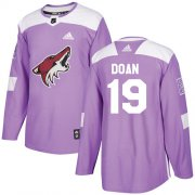 Wholesale Cheap Adidas Coyotes #19 Shane Doan Purple Authentic Fights Cancer Stitched Youth NHL Jersey