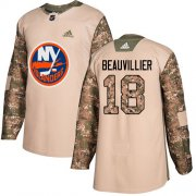 Wholesale Cheap Adidas Islanders #18 Anthony Beauvillier Camo Authentic 2017 Veterans Day Stitched NHL Jersey