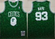 Wholesale Cheap Celtics 93 Bape Green 1985-86 Hardwood Classics Jersey