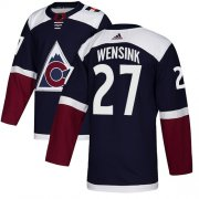 Wholesale Cheap Adidas Avalanche #27 John Wensink Navy Alternate Authentic Stitched NHL Jersey