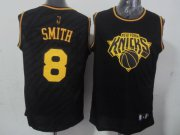 Wholesale Cheap New York Knicks #8 J.R. Smith Revolution 30 Swingman 2014 Black With Gold Jersey
